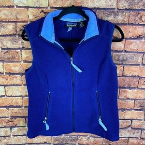 Patagonia synchilla zip up logo fleece vest